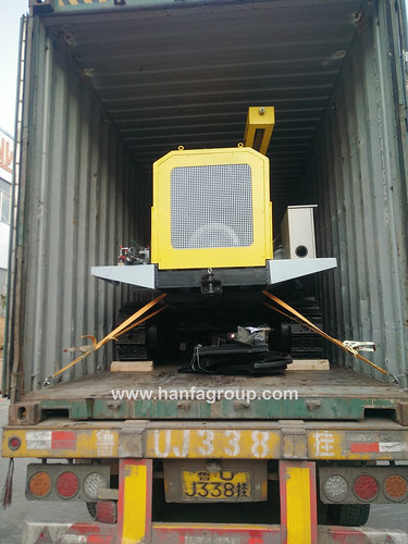 Hanfa HF140Y DTH Drilling Machine With Air Compressor Was Exported To South Africa On Dec. 2th 2017.