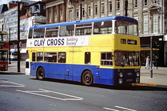 Pennine Blue 8131 (KWJ 131P) (SelmerOrSelnec) Tags: pennineblue daimler fleetline roe kwj131p manchester mosleystreet chesterfield bus