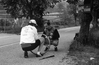 Les aléas du cyclisme. Gourdon