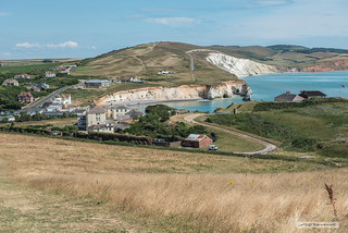 Freshwater Bay,  Isle of Wight, from Tennyson Down.