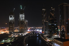 Business bay Dubai (Marwanhaddad) Tags: nightscape building city dubai bridge night moon nightphotography