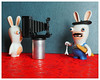 la photographie,,Raving Rabbids. (LUDOVIC. R) Tags: raving rabbids 30mm pentacon 35 lapin crétin