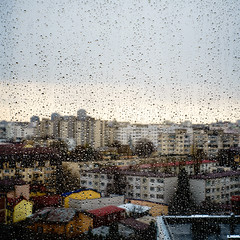 November rain (Brînzei) Tags: bucurești canonfl canonfl58mmf12 dristor sonya7 autumn bokeh clouds droplets manualfocus murky rain sky squareformat water windows ★