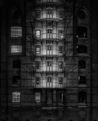 An evening in Hamburg... (1) (Piotr Stachowiak) Tags: 2017 architecture bw germany hamburg le land light nik scapes speicherstadt blackwhite cityscape longexposure night nightlight nightscape noche storagehouse street view canal piotrstachowiak nisi lee filter