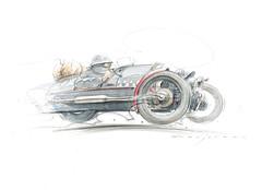 morgan01s (Stefan Marjoram) Tags: car sketch vintage art drawing watercolour