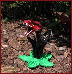 A Tentacular Specimen of Snapdragon (Karf Oohlu) Tags: lego moc snapdragon legointhegarden weed plant duplo dragonhead