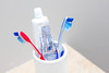 Toothbrush in a White Bowl with Toothpaste (wuestenigel) Tags: healthcare toothpaste object dental hygiene toothbrush care clean zahnpasta noperson keineperson zahnbürste gesundheitswesen plastic kunststoff health gesundheit medicine medizin treatment behandlung brush bürste indoors drinnen container equipment ausrüstung toiletries toilettenartikel bathroom badezimmer hygienics reinigen isolated isoliert dentistry zahnheilkunde detail merchandise waren