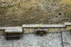 wooden table (_photoful) Tags: chair flower italy matera mountain photoful table travel wooden