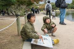 Artists at work (tmeallen) Tags: children artists youngboys painting sketching engrossed lookingup matsumotocastle blackcrowcastle nagano japan 16thcentury nationaltreasureofjapan