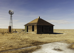 Solitude (ddurham000) Tags: prairie abandoned farm farmhouse rural windmill house oldhouse country colorado