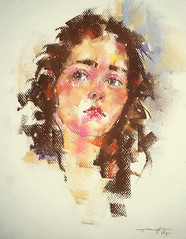P1017338 (Gasheh) Tags: art painting drawing sketch portrait girl color pastel gasheh 2017