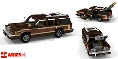 Dodge Aries Wagon (1981) (lego911) Tags: dodge chrysler corporation aries wagon estate 1981 1980s k auto car moc model miniland lego lego911 ldd render cad povray usa america woody