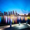 2017-Nov-19 5D4 17TSE blue Hour at Esplanade (yimING_) Tags: bluehour cityscape landscape singapore esplanade centralbusinessdistrict reflection skies jubileebridge wateredge