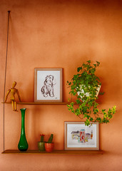 My living room... (fnoothout) Tags: stilllifephotoart stilllife color colorful green plants wall painting stedge nikond7100 nikon50mm