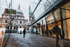 St. Paul's shopping centre reflections (garethottywill) Tags: citylife cityscape city london fujifilmxt2 fuji fujinon16mmf14 shops shopping low perspective architecture buildings people street reflections