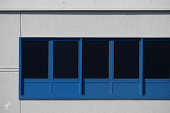 Blue and Windows (Giovanni Cappiello   f.64) Tags: new architecture white window watermark street concrete black smooth morning urban elogiodellombra rome wall blue glass roma italia ita