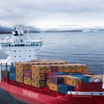 Iceland Republic - Cargo Ship arriving into Port thumbnail