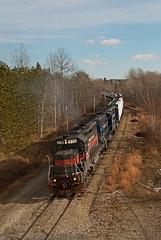 Carmel Superelevation (jc_canon) Tags: panamrailways panam mawa carmelmaine emdgp40 emd gp40 superelevation train freighttrain freight