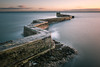 St Monans Harbour Wall (roseysnapper) Tags: nikkor 2470 f28 nikon d810 st monans harbour wall long exposure cloud colour landscape outdoor sea seascape sky sunset bay water firthofforth river