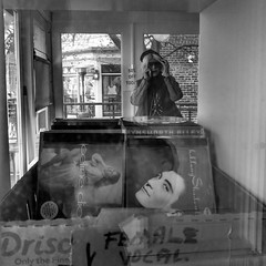 Vocal Female (Something Sighted) Tags: streetphotography scènederue square blackandwhite noiretblanc window music newhope pa pennsylvania pennsylvanie candid
