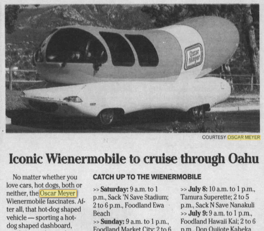 22 additionally Mayer 2Coscar moreover Oscar Mayer Wienermobile as well Easy Appetizers Live Snacking further Oscarmayer. on oscar meyer or mayer the mandela effect
