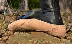 Taneční piškoty a latex (Merman cvičky) Tags: latex catsuits leggings balletslippers ballettschläppchen ballet slipper ballerinas slippers schläppchen piškoty cvičky ballettschuhe ballettschuh
