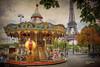 (834/17) El Carrousel de Paris (Pablo Arias) Tags: pabloarias photoshop photomatix capturenxd carrousel gente personas tiovivo torre eiffel coches carretera paris francia árboles