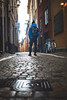 The winter is coming (Tindeto) Tags: fjallraven stockholm oldtown gamlastan sverige sweden winter rain blue streetstyle street water house old new beautiful color life yellow city capital portrait photographer photographerlife