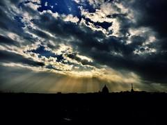 Black city (ioriogiovanni10) Tags: followme cloud sun clouds rome sanpietro cupolone city luce raggidisole sole cielo sky nuvole roma dicembre iphone