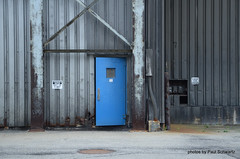 Blue Door (rochpaul5) Tags: abandon kodak eastman rochester ny new york door blue blau bleu industrial geotag utility steam geotagged