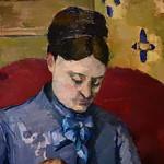 CEZANNE,1877 - Madame Cézanne cousant (Stockholm) - Detail 38 thumbnail