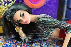 Tales of the Arabian Nights - Scheherazade (Dolldiva67) Tags: veroniqueperrin talesofthearabiannights integritytoys fashionroyalty raven haired dolls veroniquebreathless veroniqueperrinbreathless scheherazade arabiandancer middleeasternbeauty cosplaydolls turkishbeauty nikond5100 nikond5100dslr ravenhairedbeauties red