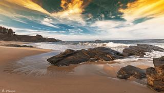 Sea, sky and rocks. Mar, cielo y rocas