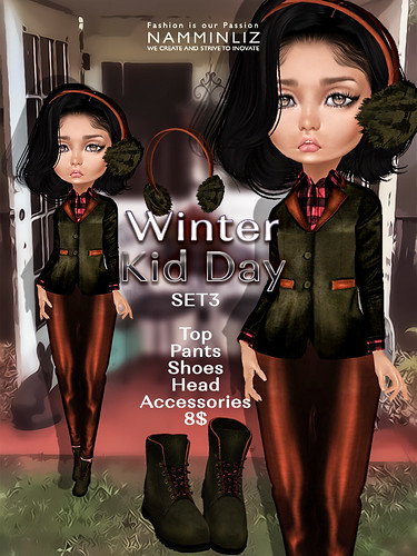 Winter Kid Day Set1 ( Pants + Shoes ) JPG textures NAMMINLIZ file