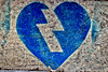 Blue heart (Pascal Rey Photographies) Tags: herzenfürsigrid herz herzen cuore coeur coeurs heart hearts nikon d60 photographiecontemporaine photos photographie photography photograffik photographieurbaine france fra pascalreyphotographies pascalrey streetart inthestreets arturbain urbanart urbaines urbanphotography blue blau bleu