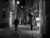 """ He likes ice cream "" (pigianca) Tags: italy siena pantaneto monochrome blackwhite bw biancoenero streetphoto urbanphoto night dog leicam240 summilux35mmf14asph"