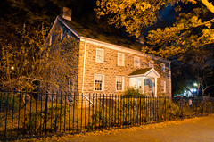 The Museum of Bronx History at Night (Lojones13) Tags: museum house night architecture bronx newyork colonial
