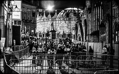 Durham Lumiere, 2017. (CWhatPhotos) Tags: exhibits exhibit dome arches market square night shadow light dark people crowd crowds many group cwhatphotos durham city north east england uk lumiere show 2017 durhamlumiere lit up day time illumination olympus em5 ii lens pictures picture photographs photograph pic pics foto fotos image images with that have which contain art artistic view