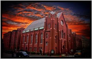 Washington DC - Calvary Baptist Church - Sunset -  Historic Building