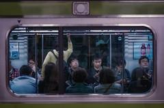 Boring day (karinavera) Tags: city night photography urban ilcea7m2 boringday japan metro tokyo train people