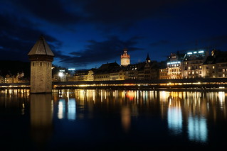 Lucerne Dark Blue Hour