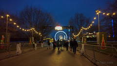 Walking into Winter Wonderland at Hyde Park