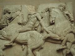 102517London-42 (djfnola) Tags: davidfischer olympus em10 mzuiko1240mm28pro britishmuseum elginmarbles greek parthenon marble sculpture basrelief frieze horsemen riders horses southfrieze