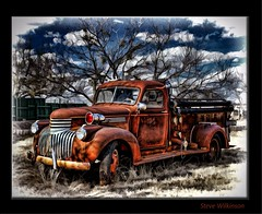 Truck (sw2018) Tags: urban house abandoned photoshop truck dexign art colour blend paint red blue green tamron stevewilkinson old