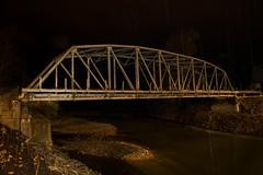 DSC_8460 (Copy) (pandjt) Tags: nightphotography lightpainting chilliwack bc britishcolumbia vedderbridge vedderriver chilliwackriver bridge thrutrussbridge