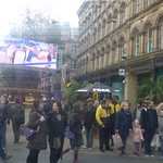 Birmingham Frankfurt Christmas Market from the tram thumbnail