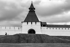 Together (skboris) Tags: architecture clouds gate kazan kremlin people tower transfiguration wall white respublikatatarstan russia ru
