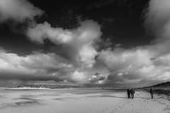 Holkham Beach (andybam1955) Tags: landscape monochrome coastal sky northnorfolk clouds holkhambeach norfolk sea