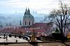 Chrám sv. Mikuláše ze zahrady Na Valech - DSC_3403p (Milan Tvrdý) Tags: prague praha praguecastle pražskýhrad hradčany czechrepublic stnicholaschurch gardensofthepraguecastle