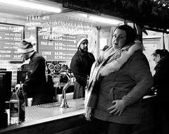 festive drinks (LozHudson) Tags: manchesterchristmasmarkets manchester people fujifilmx100s x100s fuji blackwhite blackandwhite monochrome